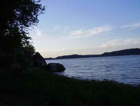 Figure 8. Battery Rock on the Ohio River
